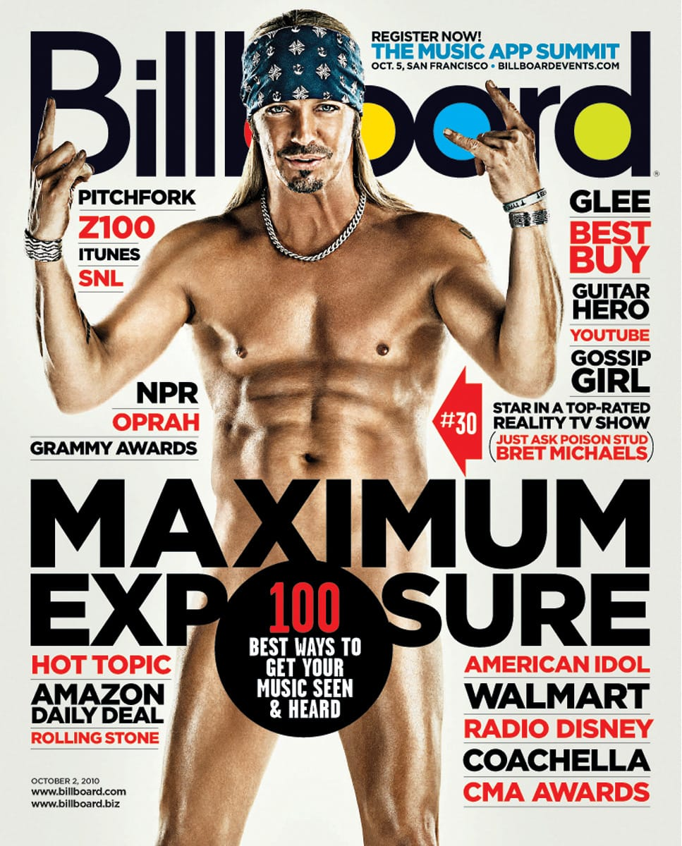Bret Michaels Naked on Billboard Magazine