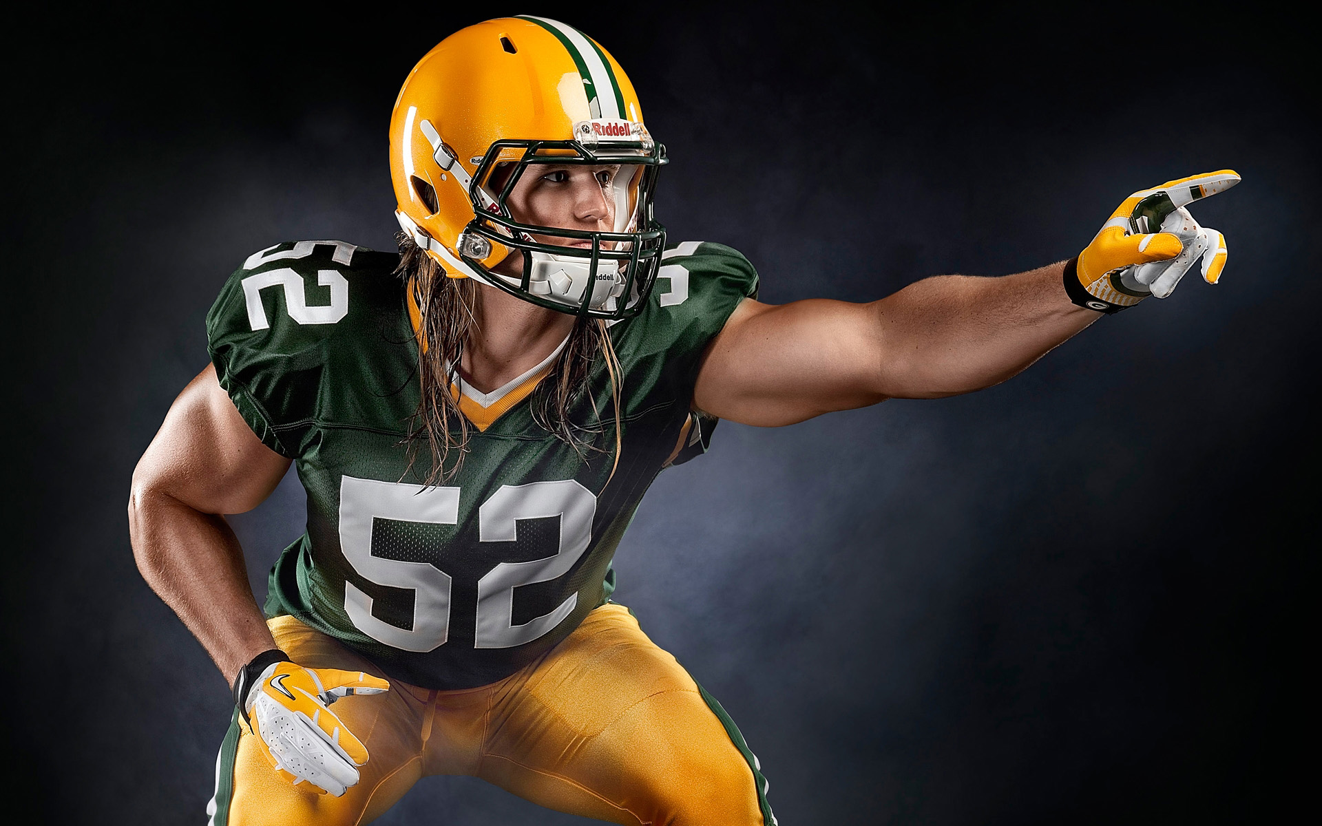 Clay Matthews by athlete photographer Blair Bunting