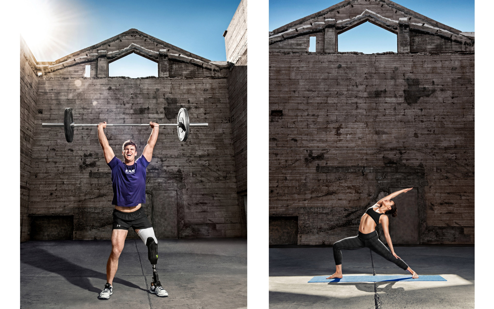 EAS Workout Advertising Photographer