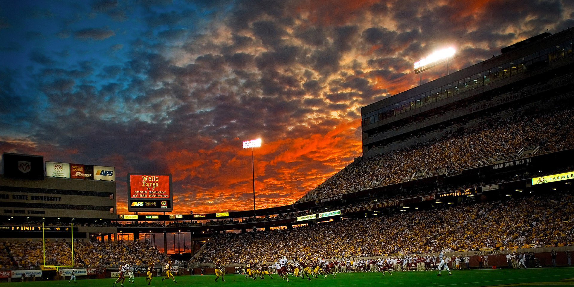 Footbal Game Sunset by Arizona Commercial Photographer Blair Bunting