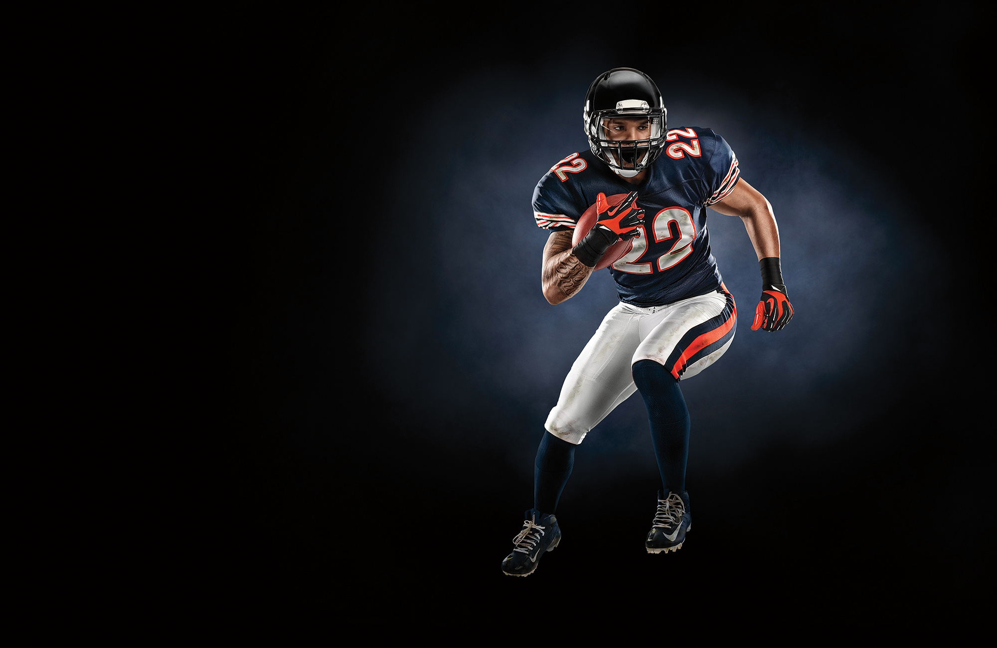 Matt Forte photographed for Muscle Milk