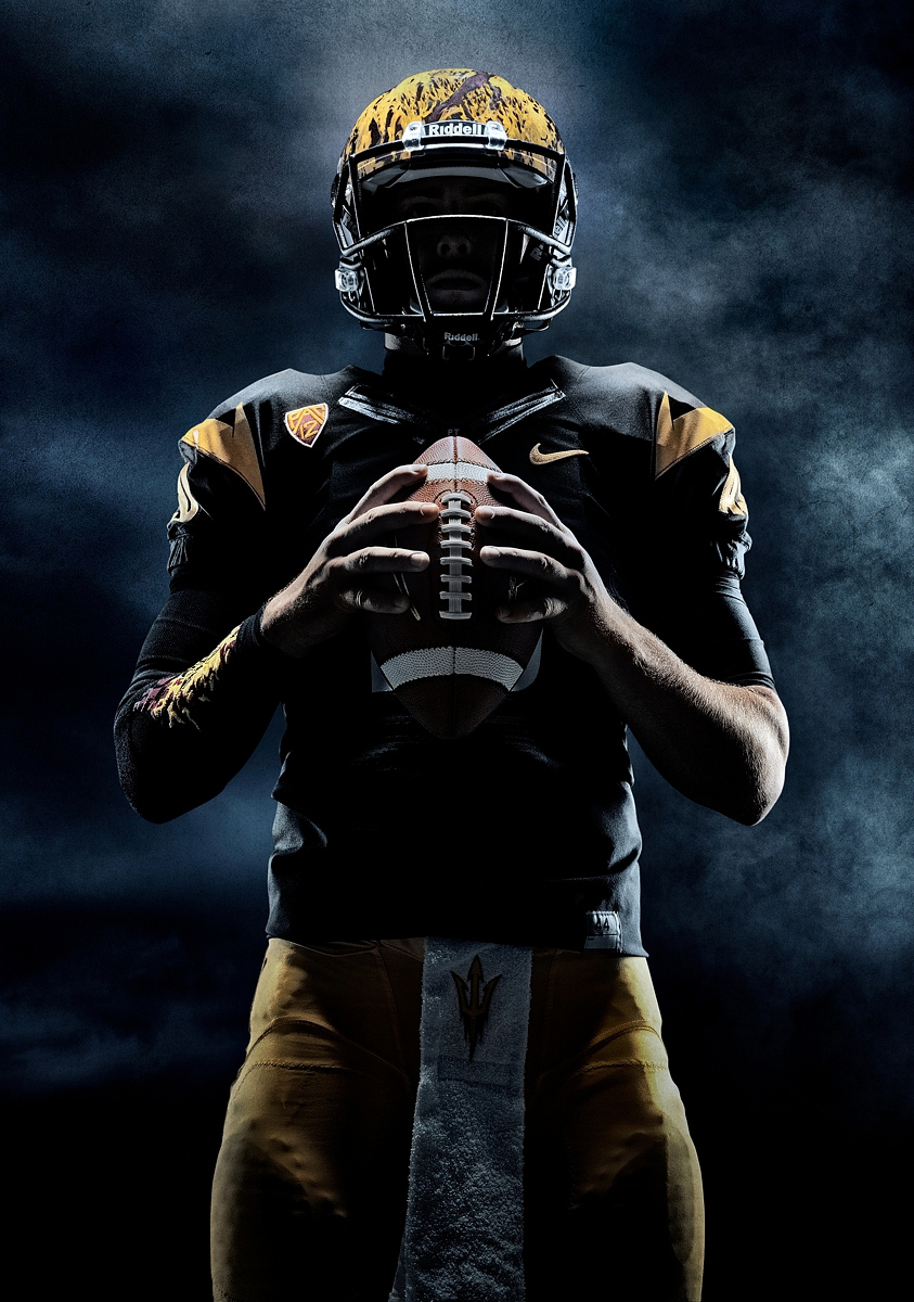 Dark Football Campaign dramatic lighting