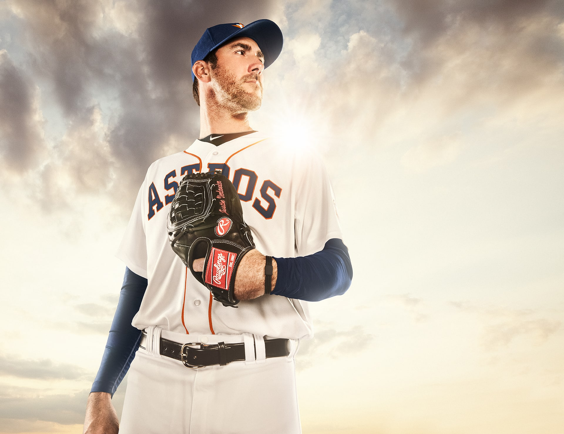 Justin Verlander of the Houston Astros World Series photographed by Blair Bunting