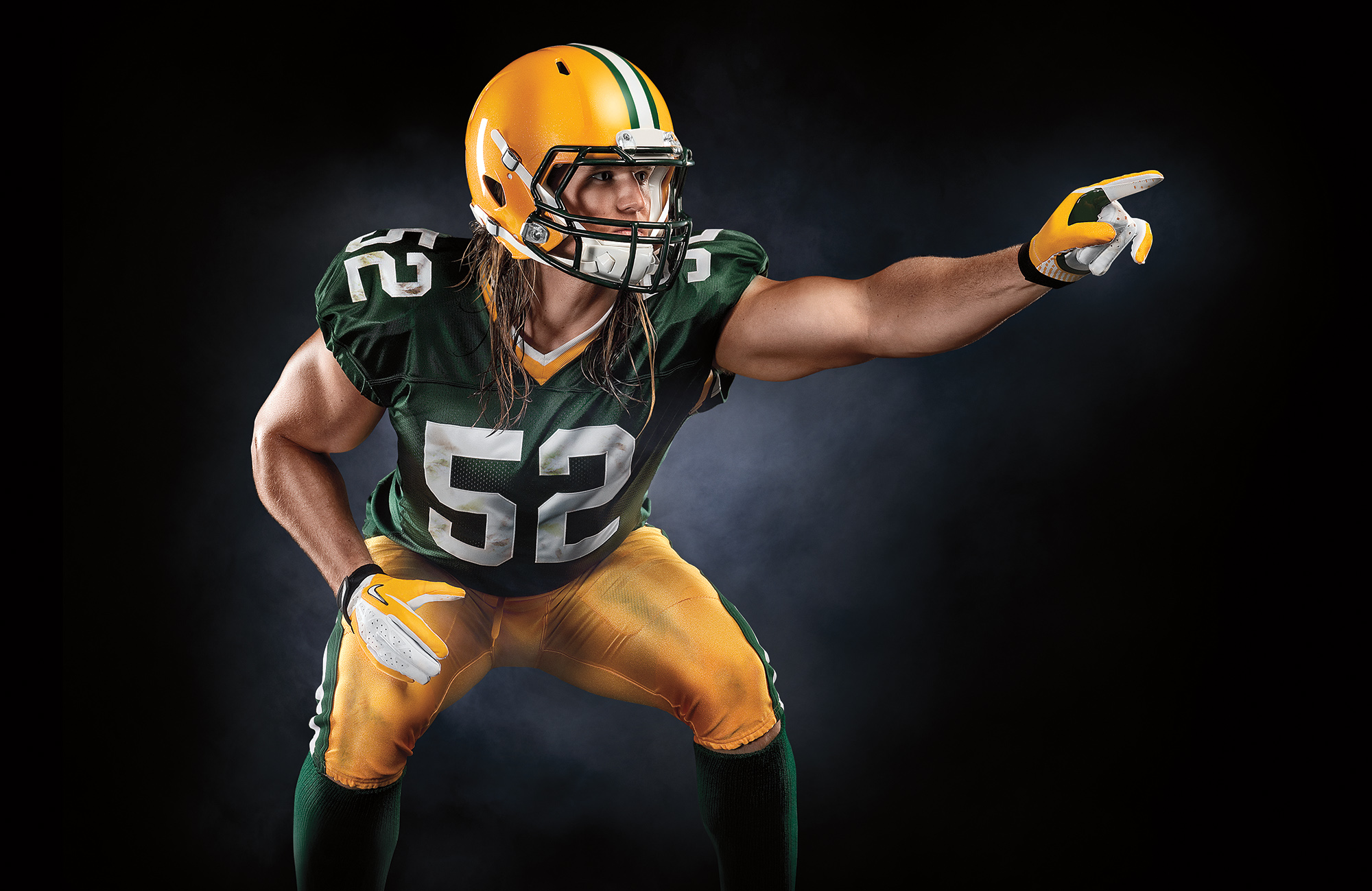 Clay Matthews Photoshoot by Blair Bunting Advertising Photographer