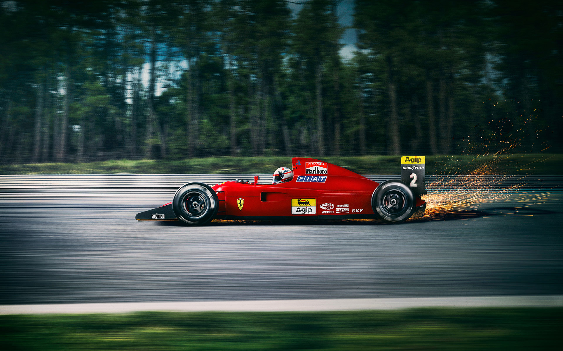 Nigel Mansell Ferrari F641 by Automotive Photographer