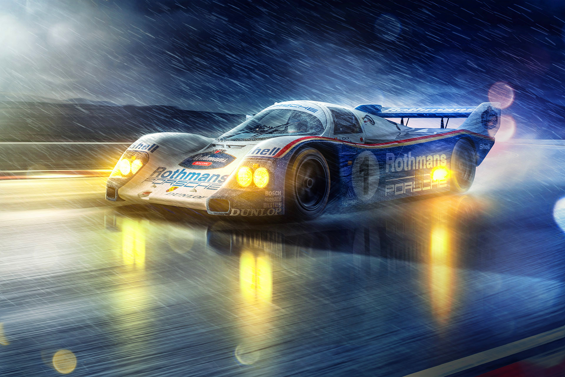 Porsche 962 Photographed by Automotive Photographer Blair Bunting
