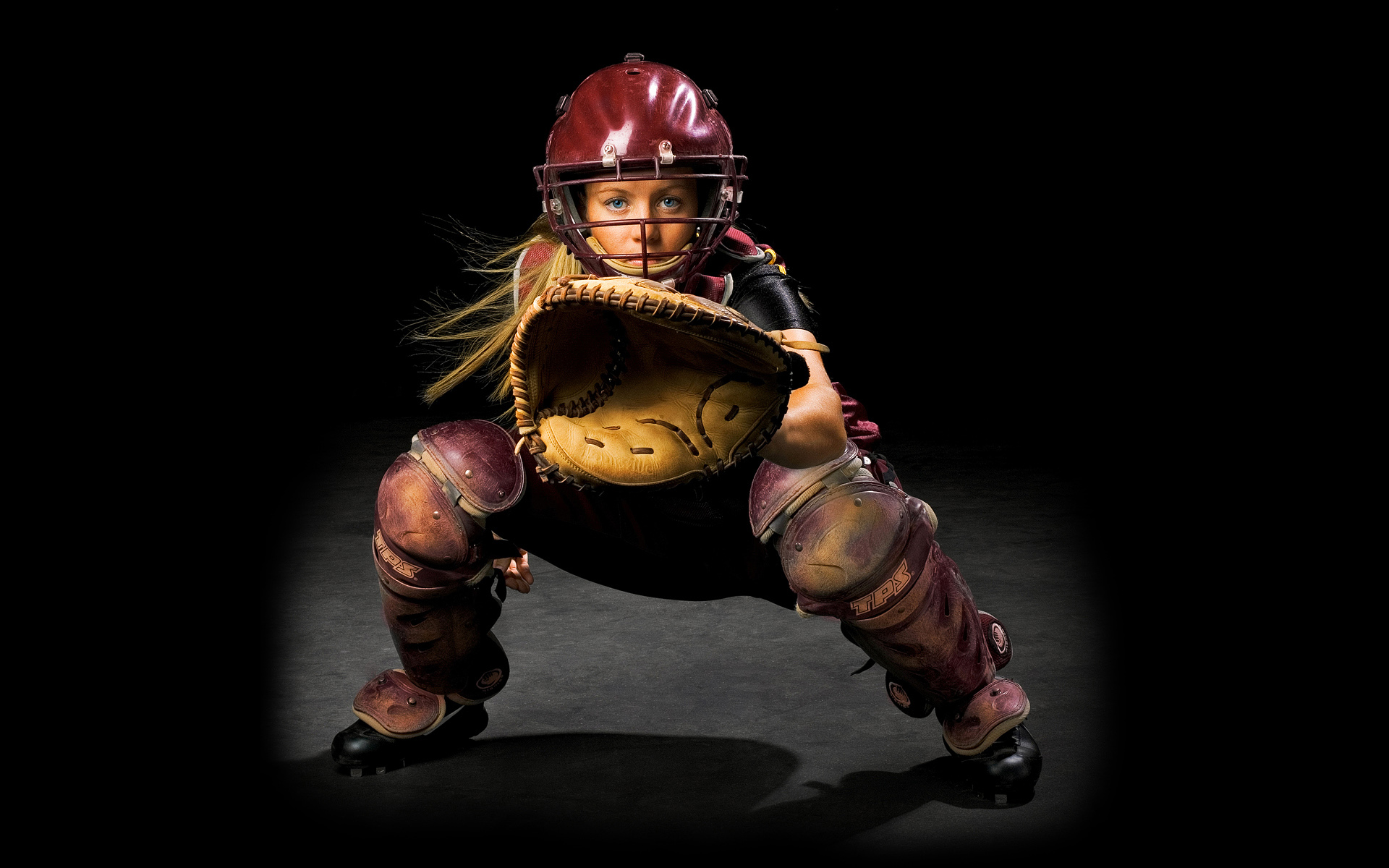 Softball Catcher by renowned photographer Blair Bunting