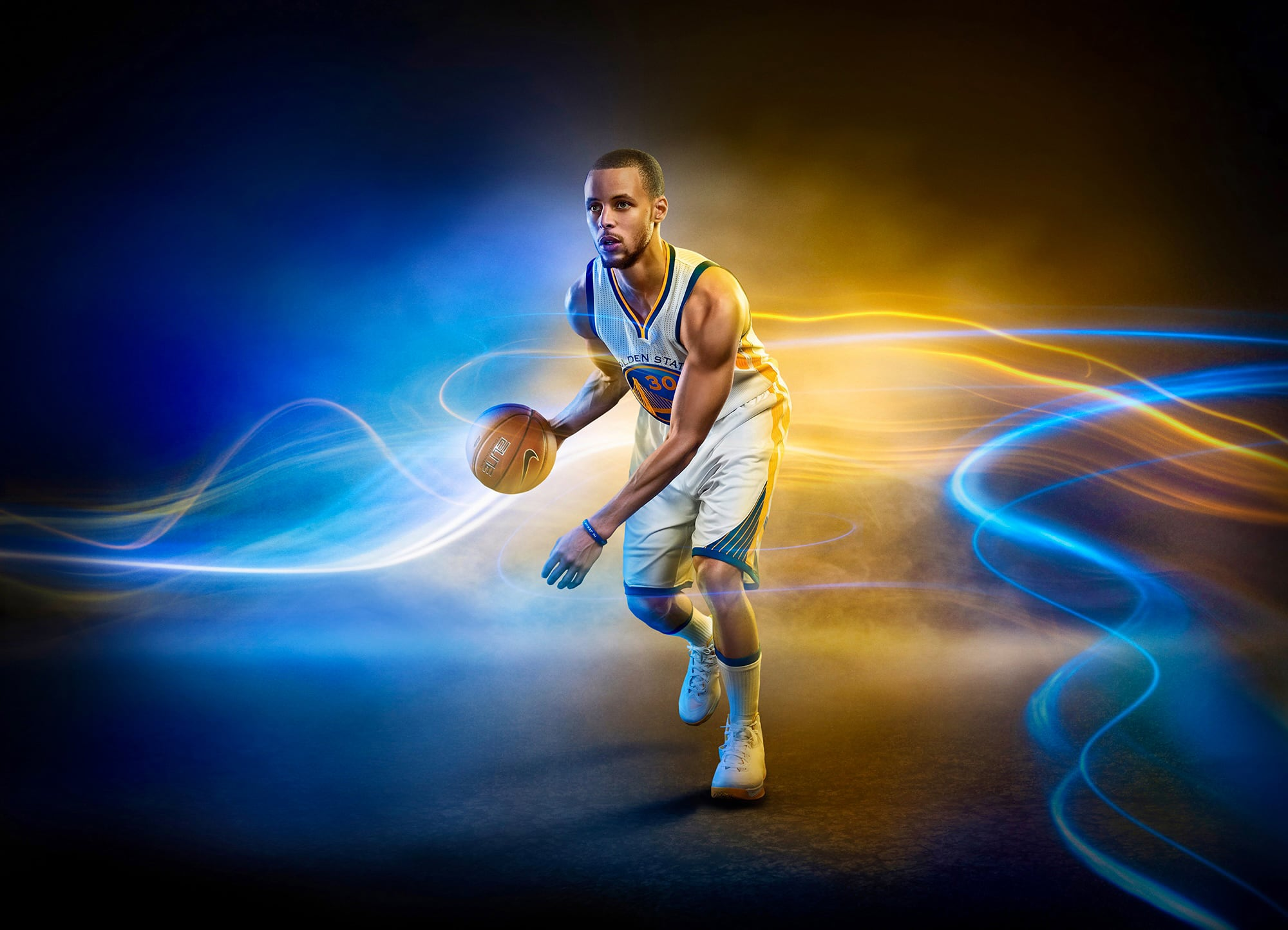 Stephen Curry of the Golden State Warriors photographed by Advertising Photographer Blair Bunting
